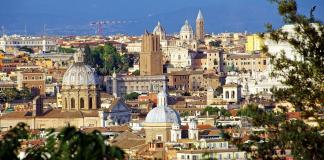 City view of Rome, Italy