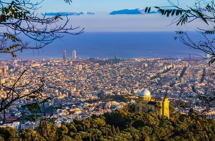 View onto Barcelona, Spain