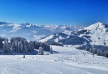 One of many pistes at SkiWelt in Austria