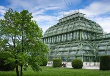 The Palmenhaus at the Palace Schoennbrunn in Vienna.