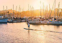 Harbor, Stand Up Paddle, Santa Barbara, California, USA