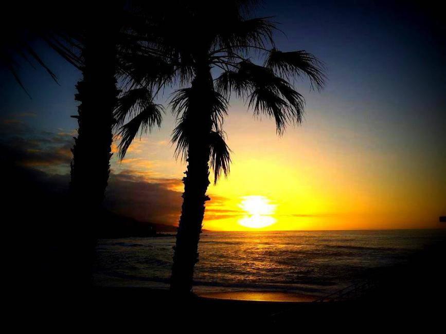 Sunset at playa de Jardin