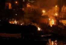 Burning ghats in Varanasi, India