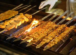 Persian food recipes - Chelo kabab koobideh