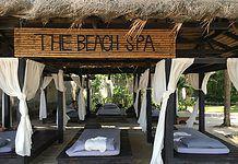 Getting a Thai massage in Thailand on the beach