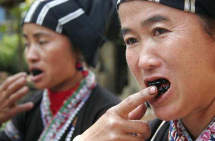Tooth blackening ritual in Vietnam