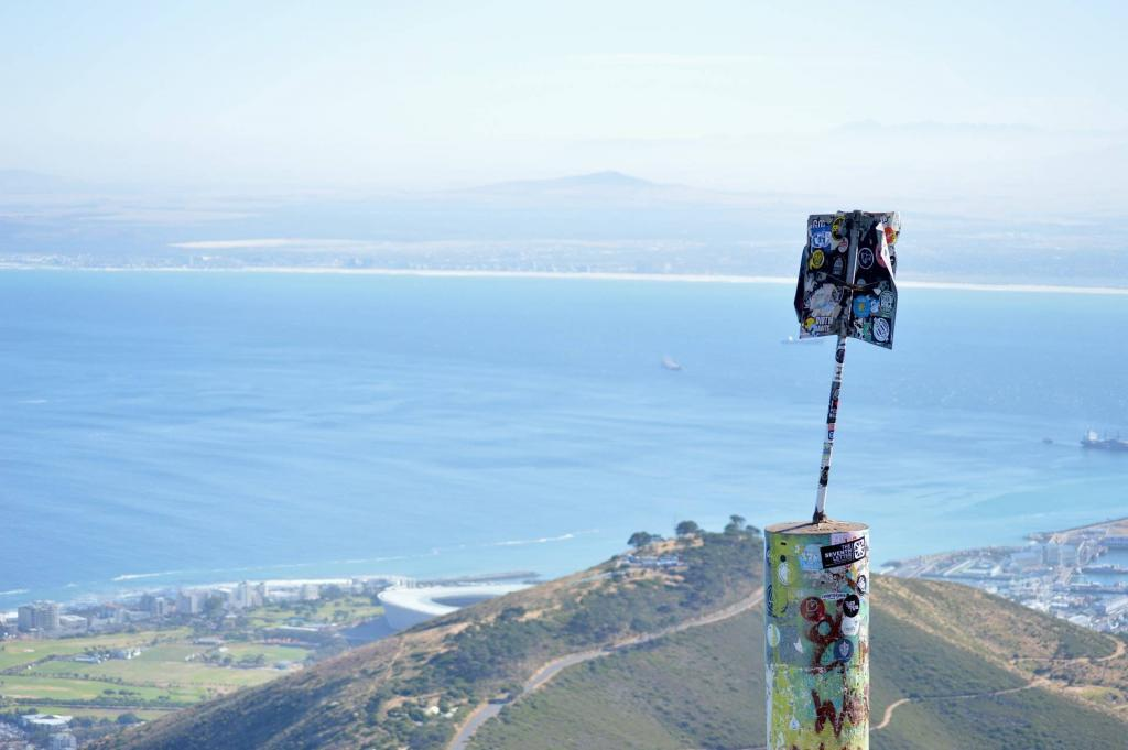 Views of Cape Town from the top of Lions Head