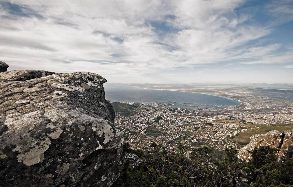 Views of Cape Town from Table Mountain, South Africa