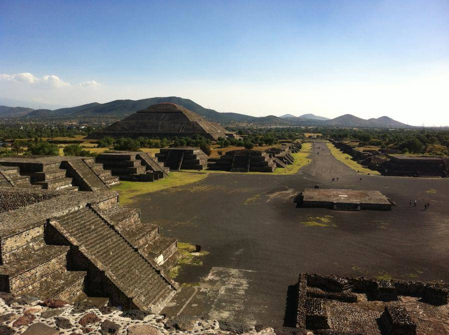Visiting Teotihuacan, Mexico
