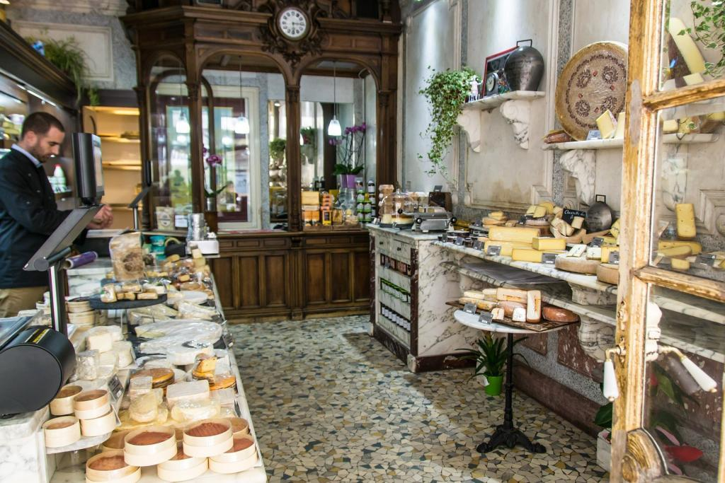 Eating out in Paris - cheese shops