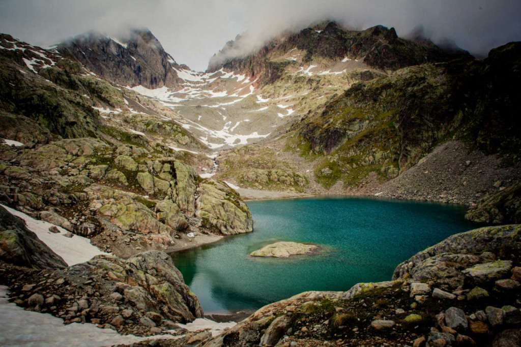 Hiking to Lac Blanc, France