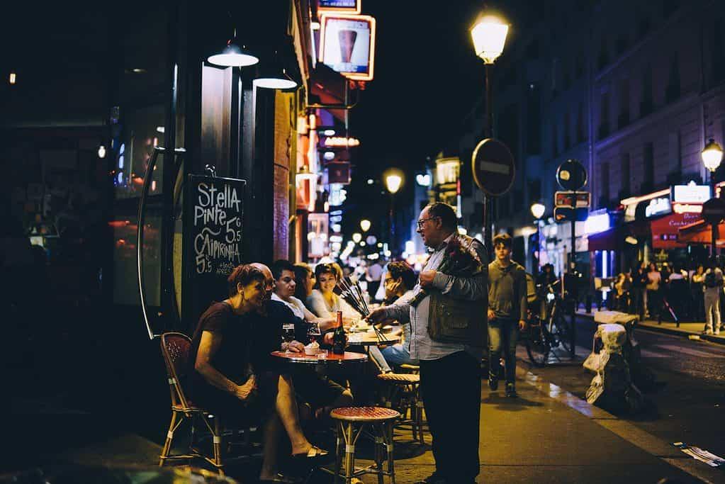 Nightlife in Paris, France