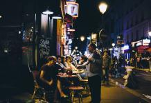 Nightlife in Paris, France