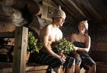 Traditional Finnish sauna experience