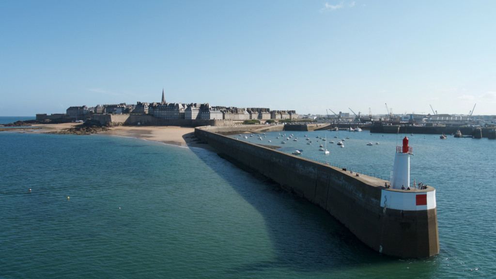 The walled city of Saint Malo France