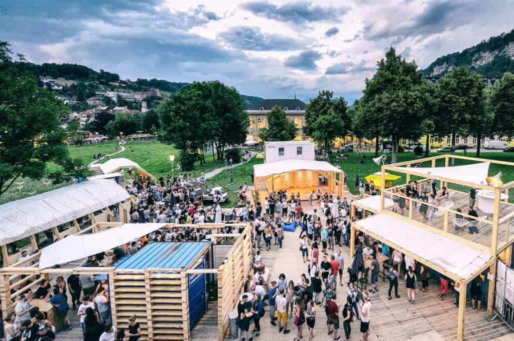 Poolbar festival in Vorarlberg, Austria