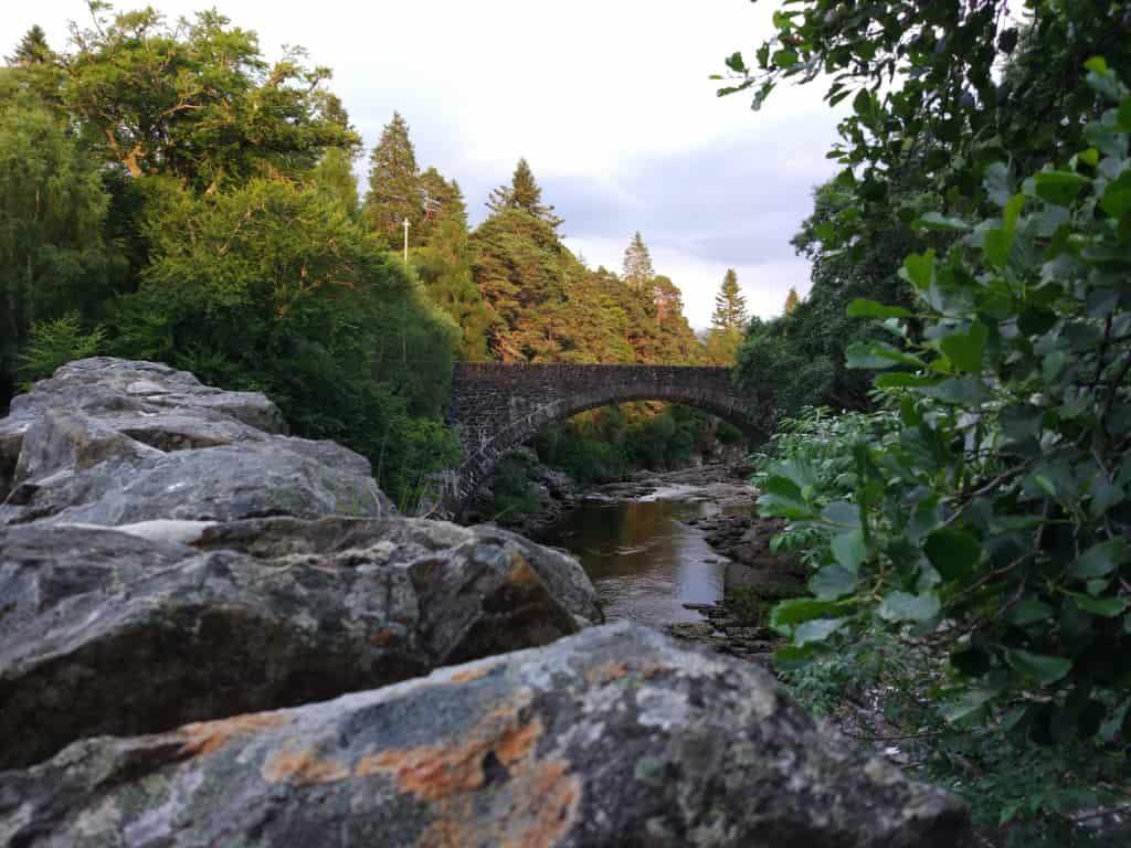 Invermoriston Waterfalls. Scotland road trip