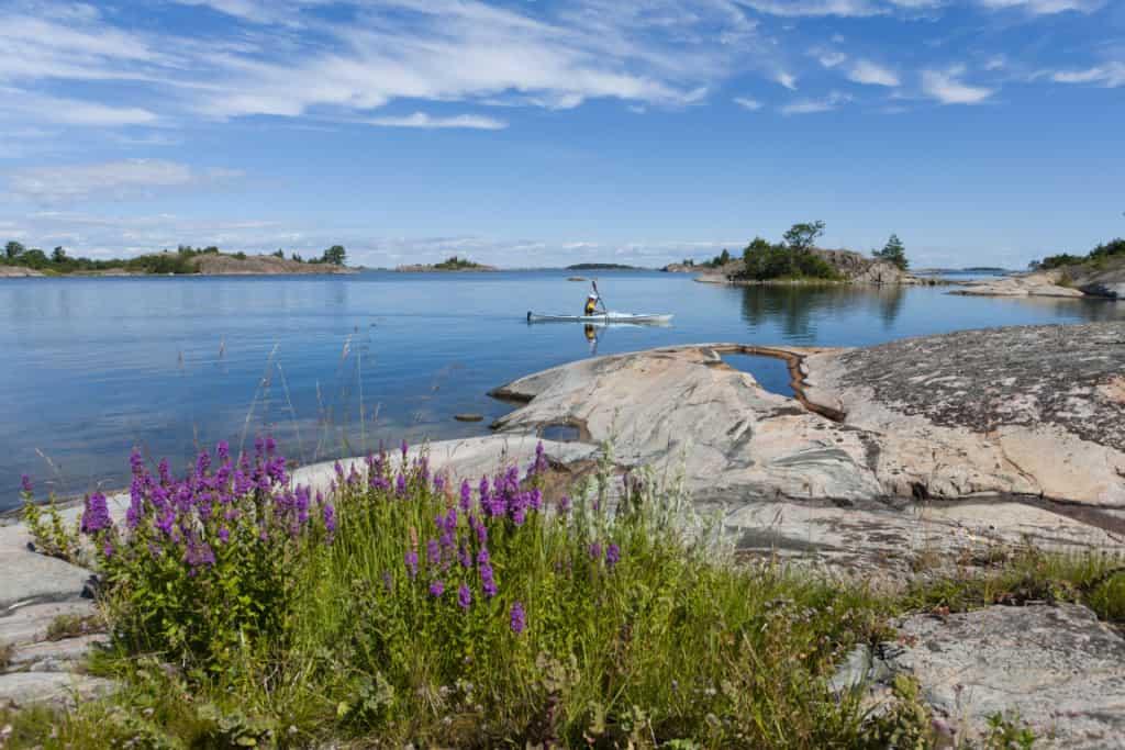 Kayaking in the archipelago, Stockholm, Sweden