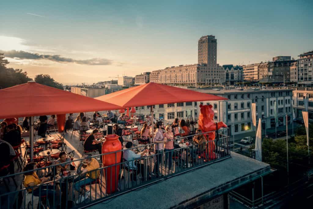 Lausanne rooftop bar