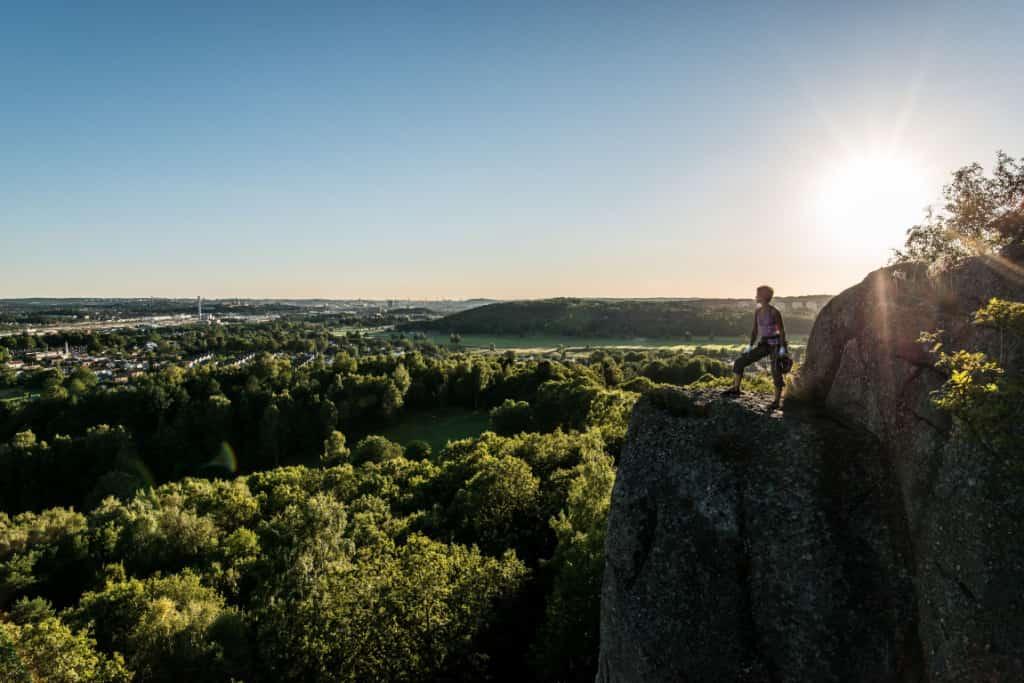 Rock-climbing in Utby, Sweden