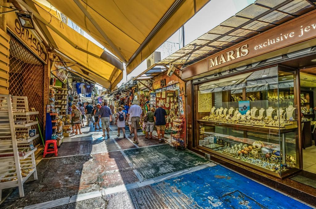 Shopping in Athens, Greece