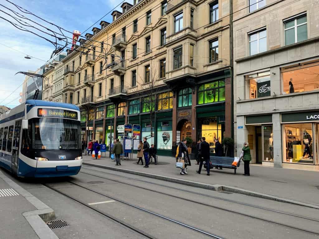 Bahnhofstrasse shopping, Zurich