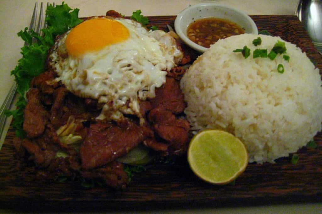 Traditional Cambodia food - Lok lak
