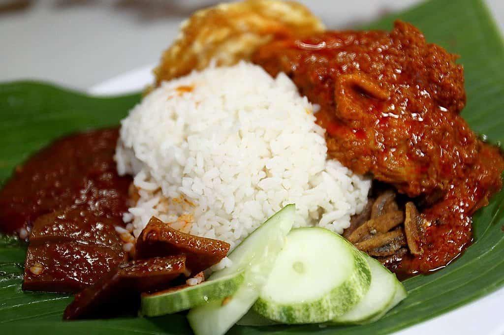 Traditional Malaysian food - Nasilemak