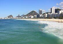 Copacabana in Rio de Janeiro, Brazil.