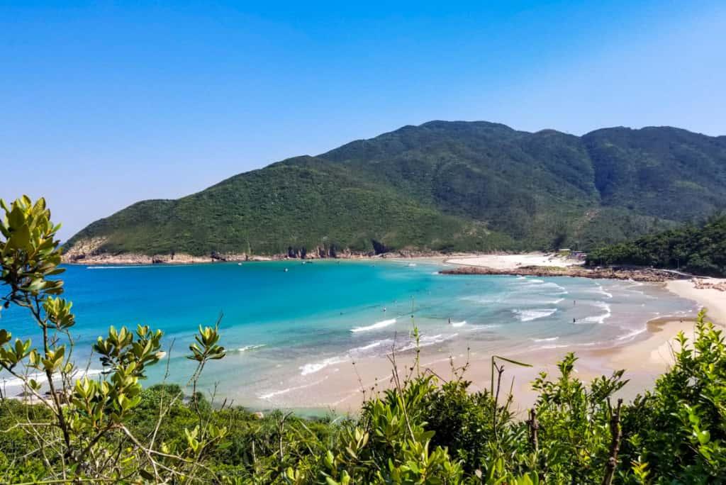 Sai Wan Beach in Hong Kong, China.
