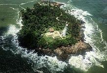 Barberyn Lighthouse in Beruwala, Sri Lanka.