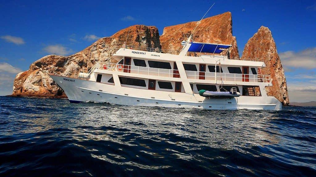 A Galapagos cruise ship