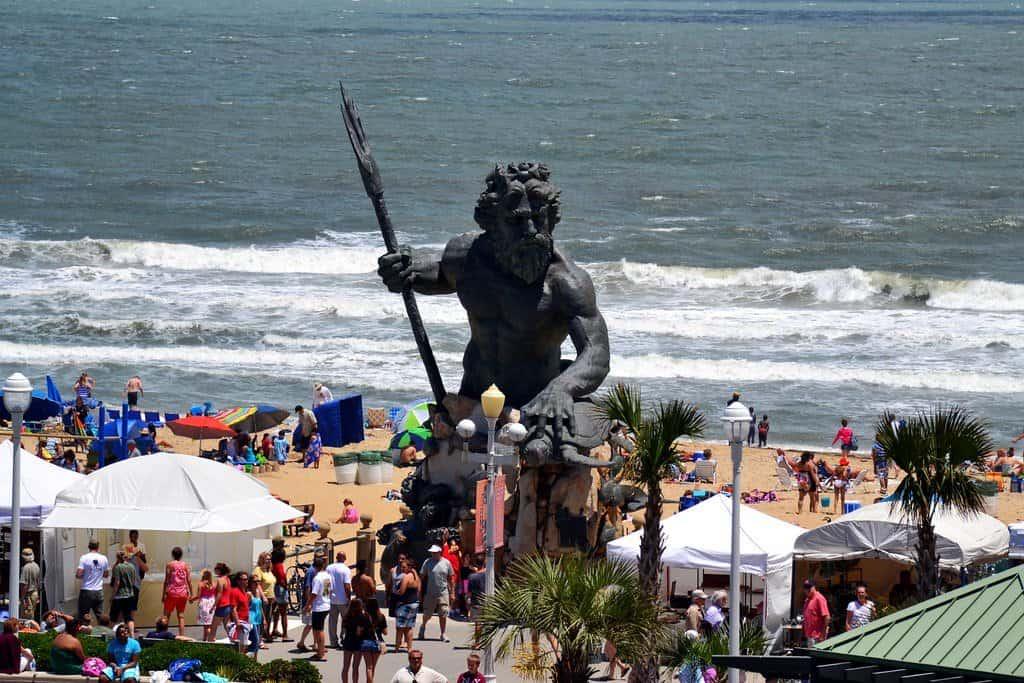 The King Neptune Statue on Virginia Beach Oceanfront