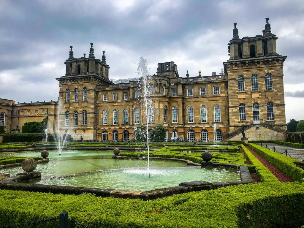 Blenheim Palace in Oxford, UK