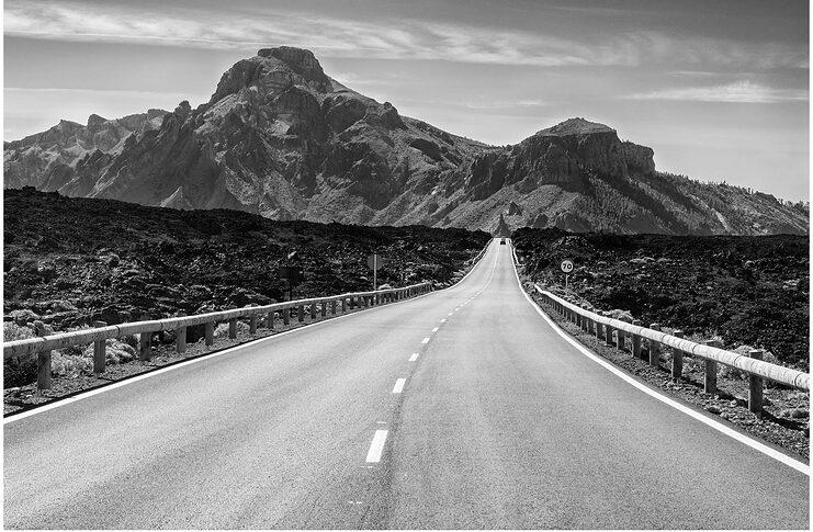 The roads in Tenerife, Spain