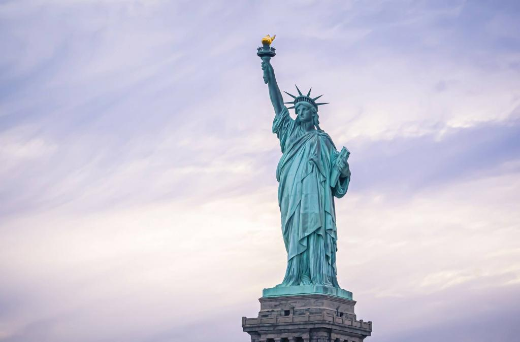 Visiting the Statue of Liberty in New York