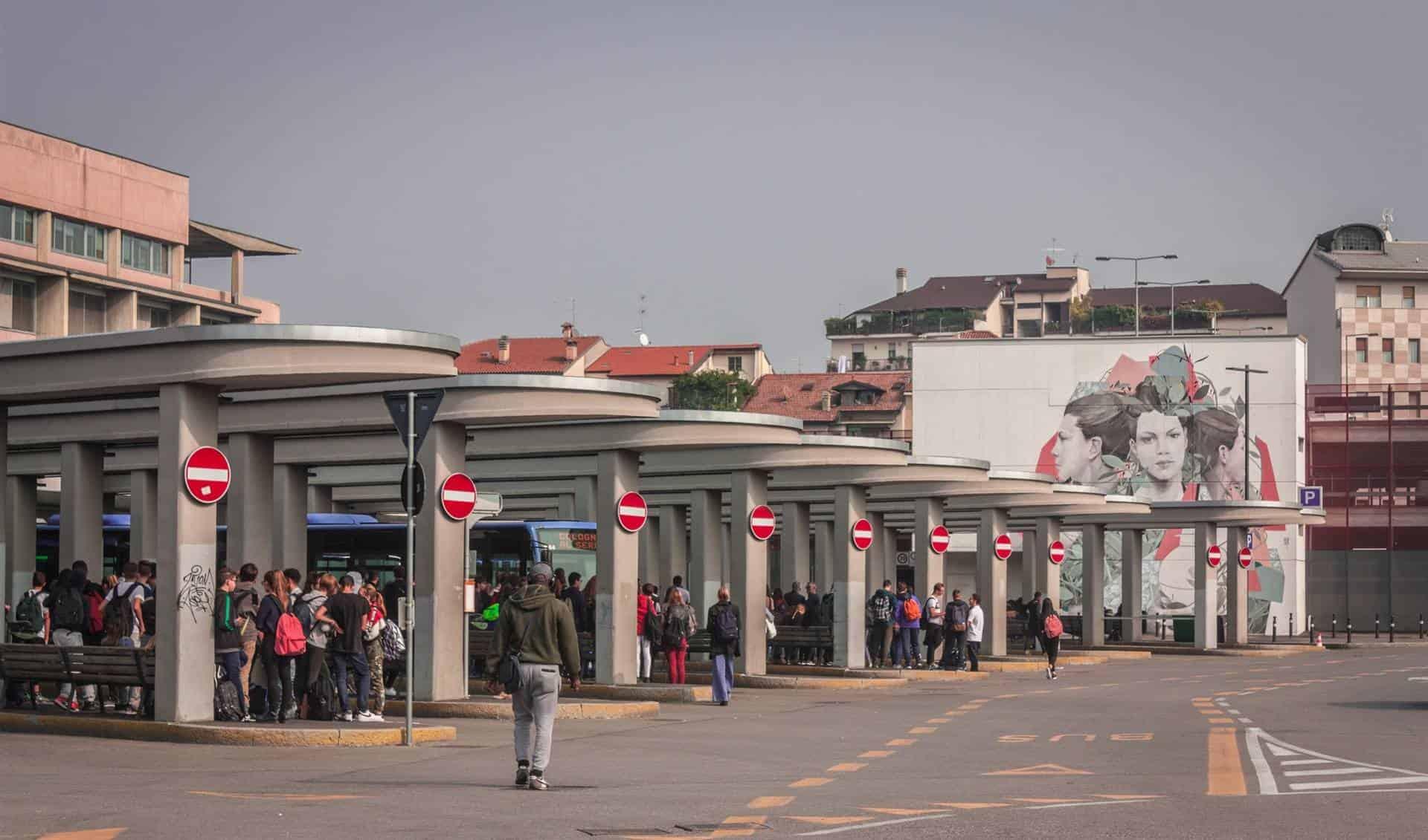 Bergamo bus station, Italy