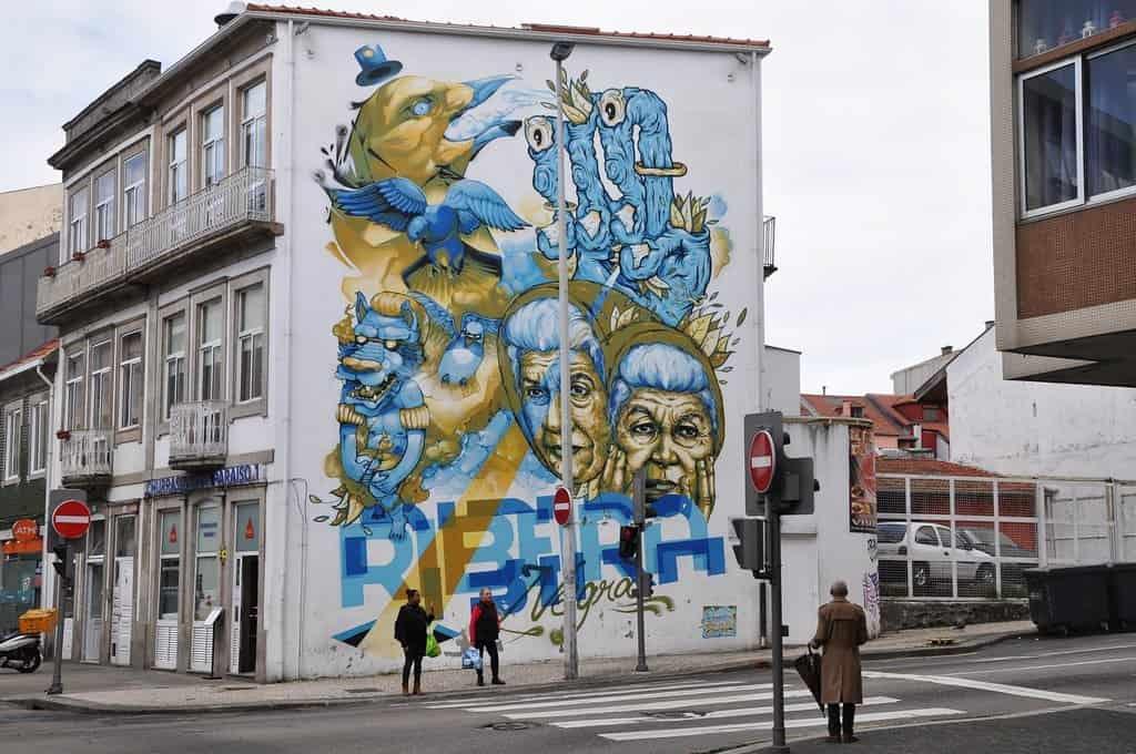 Porto graffiti in Portugal