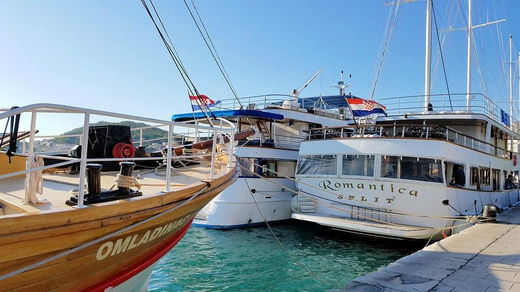 Yachts in Split, Croatia