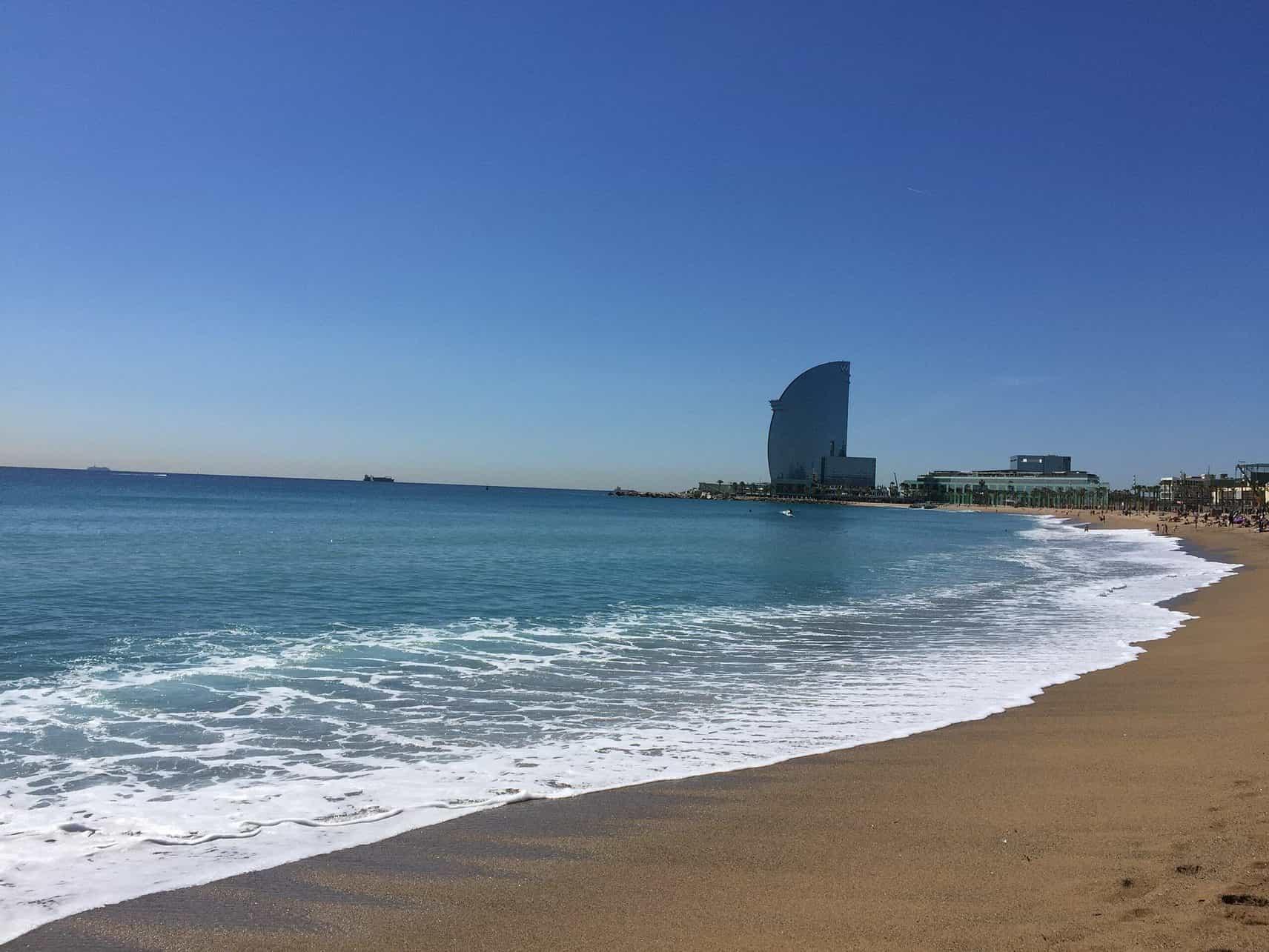Most popular beach in Barcelona - Barceloneta