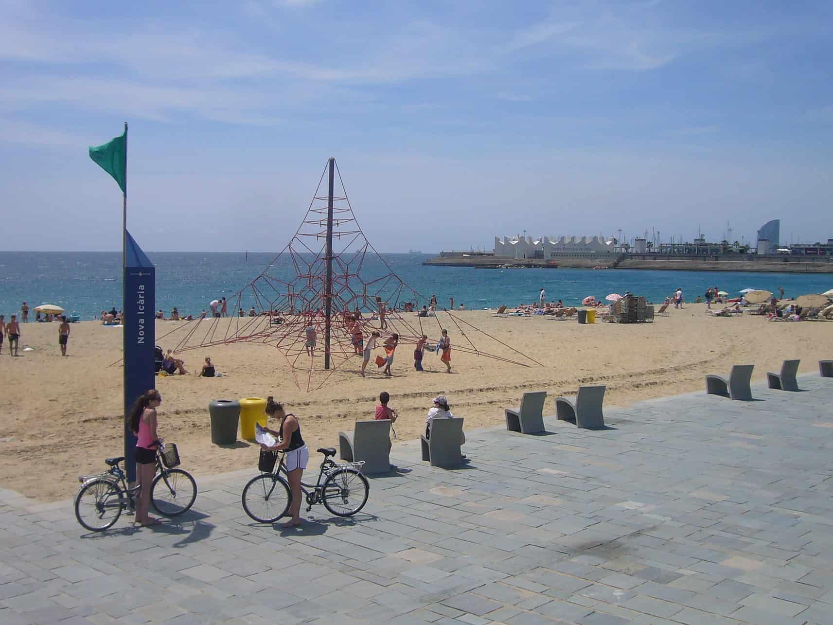 Nova Icària Beach in Barcelona, Spain
