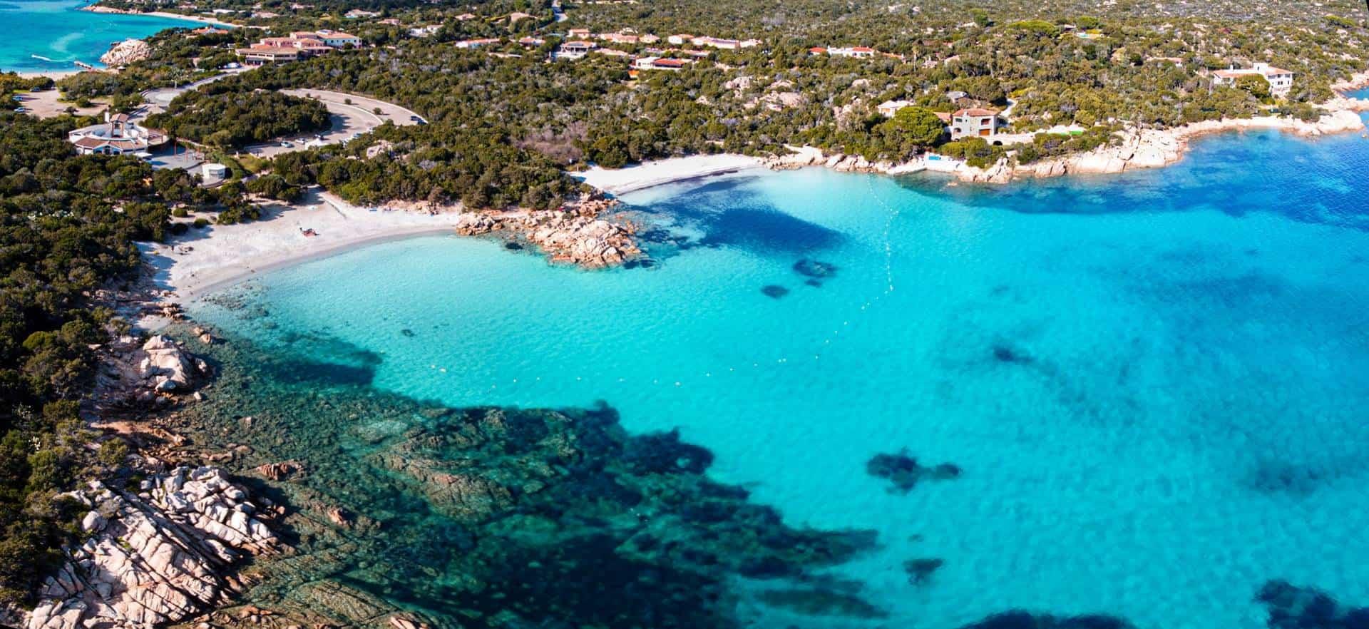 Capriccioli beach in Sardinia, Italy