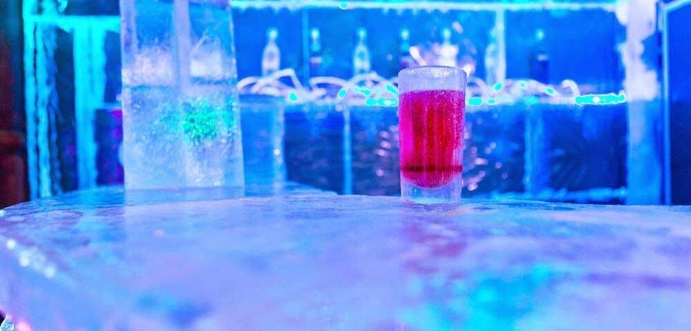 Ice bar IceBarcelona, Spain.