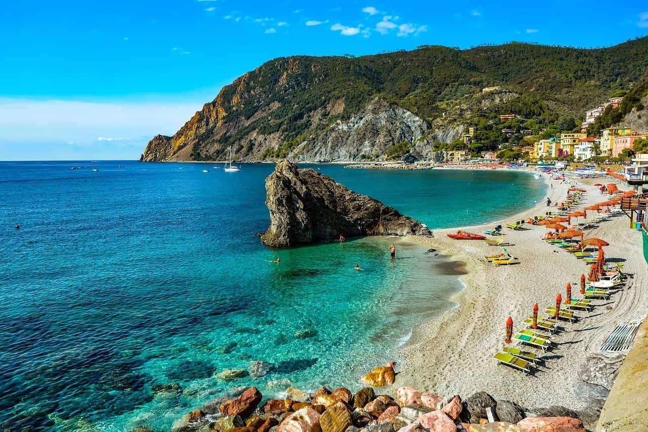 Monterosso beach in Cinque Terre, Italy